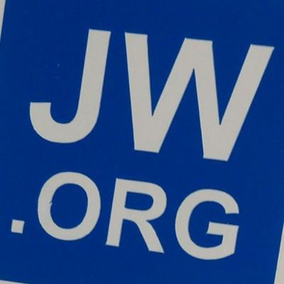 Aufkleber JW.ORG Dunkelblau