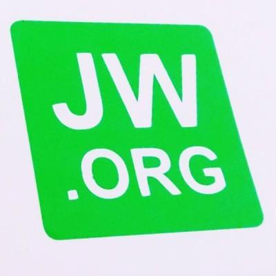 Autoaufkleber JW.ORG grün