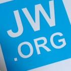 Autoaufkleber JW.ORG hellblau