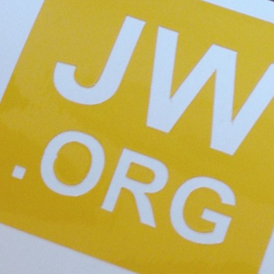 Autoaufkleber JW.ORG Orange