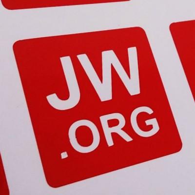 Autoaufkleber JW.ORG rot