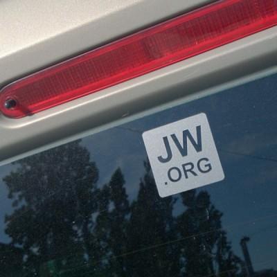 Autoaufkleber JW.ORG grau